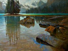 "'Spirit Island Transition' 36"" x 48"" Oil on Canvas by BC artist Brent Lynch"
