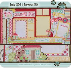 Premier Scrapbook Designs: July 2011 Layout and Card Kit Releases