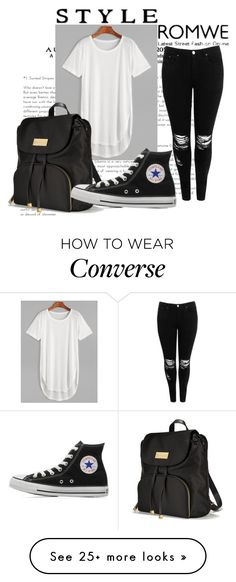 """""""Romwe contest!"""" by midheta-k on Polyvore featuring Boohoo, Victoria's Secret and Converse"""