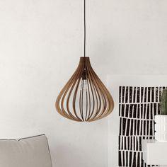 pendant light ceiling fixture wooden lasercut lamp handmade chandelier  modern fig onion shape  #DEZAART #pendantlight #chandelier #design #art #wooden #pendantlighting #contemporary