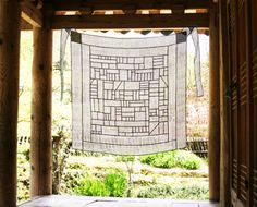Modernized traditional Korean Fabric art and décor, Jogakbo - Sheer shade/ space décor