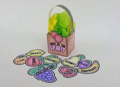 Printable Fruit of the Spirit Basket Craft.  Adorable!