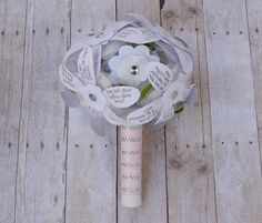 DIY Rehearsal Bouquet of Wishes #bridalshower #wedding #diy #rehearsal