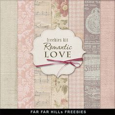 Freebies Kit of Backgrounds - Romantic Love:Far Far Hill - Free database of digital illustrations and papers