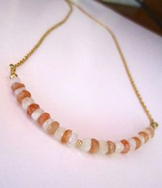 Sunstone and moonstone necklace handmade jewelry | Flickr - Photo Sharing!