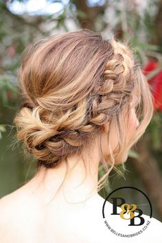Image result for big messy updo with plait