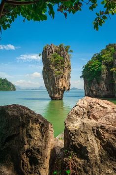 Ko Tapu, located in the Phang Nga Bay (not exactly in Phuket but close to. Thailand Travel, Asia Travel, Bangkok, Places To Travel, Places To See, Khao Lak Beach, Exotic Places, Dream Vacations, Beautiful Landscapes
