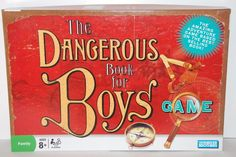 The Dangerous Book for Boys Game Parker Brothers Complete 2006 8 to adult #ParkerBrothers