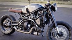Turbo Diesel Cafe Racer | Rare Cafe Racer Turbo Diesel Cafe Racer is based on rare Track T800CDI, made by E.V.A. Products.  Turbo Diesel Cafe Racer is powered by liquid-cooled, 3cylinder 799cc turbocharged diesel engine cranking 45 BHP and 74 lb-ft of torque. E.V.A. only sold a few T800CDI before dysfunct. well Turbo Diesel Cafe Racer is defiantly unique and a Rare Custom bike.