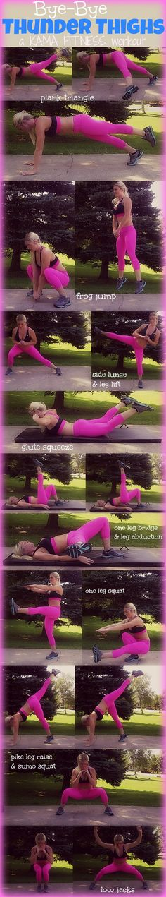 Thigh toning workout.