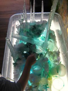 Ice Forest on the light table- Garden Gate Child Development Center