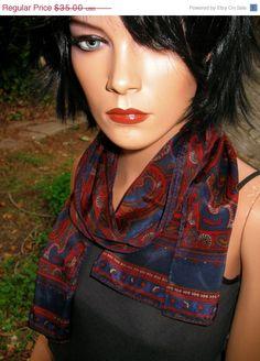 GORGEOUS Signed Liz Claiborne Jewel Tone Paisley by RadicallyRetro