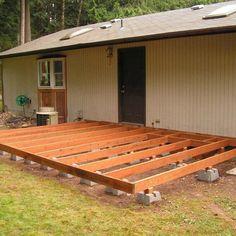 Pergola Ideas For Deck Patio Diy, Diy Deck, Wood Patio, Pallet Patio Decks, Diy Porch, Concrete Patio, Backyard Gazebo, Deck With Pergola, Pergola Ideas