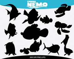 Finding Nemo Instant Download silhouette by pinkykatieclipart