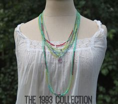 The 1993 collection is back in the shop. It is full of necklaces that remind me of the sea + summer. Creating them each summer season takes me back to when I was 17 and believed one girl really could make a difference in the world. I'm so glad I believe that again...