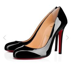 Christian Louboutin on Sale - Up to 70% off at Tradesy (Page 3) Patent Shoes, Stiletto Shoes, Pump Shoes, Cl Shoes, Shoes Heels, Louboutin Online, Black Christian Louboutin, Black Shoes, Fashion Outfits