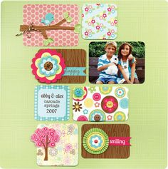 """Doodlebug Design Inc - """"Flower Box"""" Collection - one of four complete new paper/embellishement collections being released at CHA 2013."""