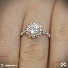 Verragio Round Halo Diamond Engagement Ring | 1811 - LOVE LOVE LOVE