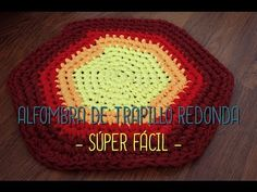 ALFOMBRA TRAPILLO MULTICOLOR CROCHET CON TRAPILLO/T-SHIRT YARN CARPET - YouTube
