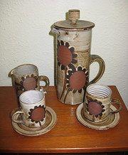 Antiques Atlas - Briglin Studio Pottery Coffee Set