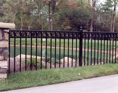 Metal Fences | ornamental steel and ornamental aluminum fences add style and elegance