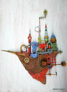 gérard collas, sculpture,assembage