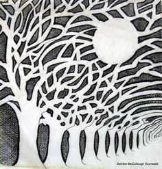 """Night Trees"" - Original Fine Art for Sale - © Deirdre McCullough Grunwald"