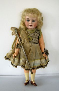 Antique Armand Marseille 390 9/0 bisque head fairy doll open mouth sleeping eyes