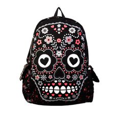 skull bag http://www.attitudeholland.nl/haar/accessoires/tassen-portemonnees/rugtassen/sugar-skull-bag-black/