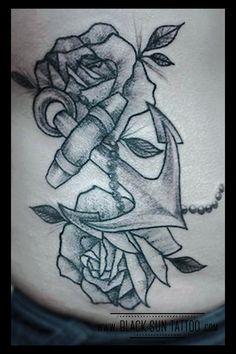 Tattoo by Black Sun Tattoo, Warsaw, Poland #anchor #anchrandroses #anchortattoo #rosestattoo #anchordotwork #rosesdotwork #anchorandrosesdotworktattoo #anchorandrosestattoo #dotwor #dotworktattoo #womenstattoo #blacksuntattoo