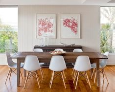 Dining Room Ideas | Simple Decor | Eames Plastic Chair | Mid-Century Modern