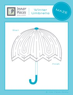 Kids maze: Winter Umbrella. Now part of a 10 pack of mazes to help strengthen visual skills.