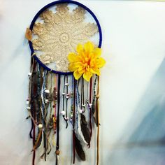 Gorgeous bohemian doily dream catchers. Available in multiple colors. Made with lace, beads, fabric and feathers. on Etsy, $30.00