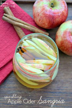 Sparkling Apple Cider Sangia - the perfect fall party beverage!