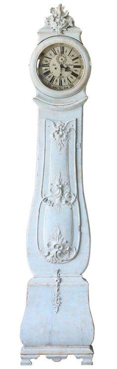 Antique Rococo Swedish Mora Clock, circa 1770, this is the one, beautiful