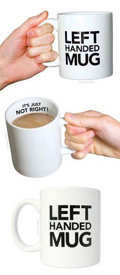 Left handed mug - ha! #leftie #product_design