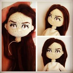 Amigurumi Long Hair : Embroidery eyes for crochet dolls Amigurumi: how to ...