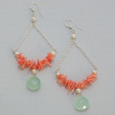 Coral Creek Earrings by Hermosa Jewelry hermosajewelry.co...