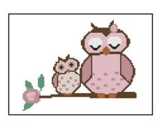 Love owl Cross stitch pattern Cross-Stitch PDF by MagicCrossStitch
