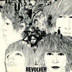 """Beatles: """"Revolver"""" Settimo album dei Beatles (1966) Capitol Records. Illustrazione di copertina di Klaus Voormann"""