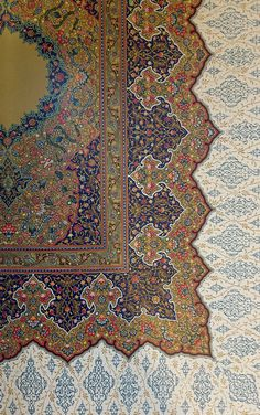 kumaliza:  Amazing Indo-Persian manuscript illumination on a page of a 15th century Qur'an. Because illuminated manuscripts are the highest ...