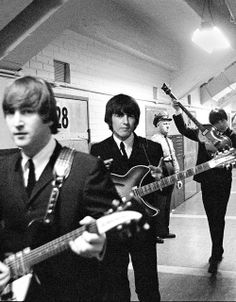 The Beatles backstage, 1964