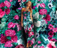 Secret Heaven II Seamless Floral Pattern by rizapekerart #fashion #print #pattern #ss17 #botanical #moda #tropical #interior #wallpaper