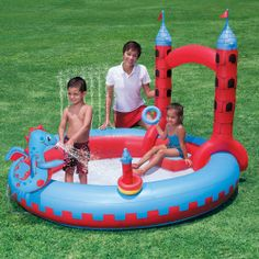 Interactive Castle Inflatable Play Swimming Pool
