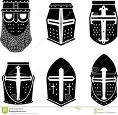 Templar Knight Helmets