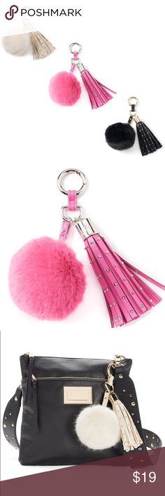 "⚡️ F L A S H  S A L E ⚡️ Free w/ any purchase over $75 or you may buy now   Add some flair to your purse, backpack or other accessories with this Juicy Couture pom-pom key chain    • faux-fur pom pom accent • ring closure  • studded tassel  • gold-tone hardware  • 5"" length   ◆ no holds  ◆ no trades   ◇ price firm  ✦✦ bundle and save 10% on 3+ items ✦✦ Juicy Couture Accessories"