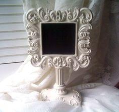 Chalkboard Frame White Pedestal Style Frame Wedding Home Decor Chalk Board SCT, ECS