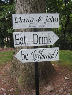 Wedding Directional Signs Shabby Chic by YourDivineAffair on Etsy