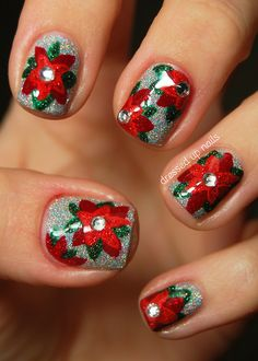 dressedupnails:  Today I have my first holiday nails to show...