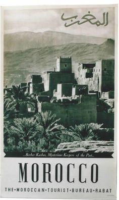 Vintage Morocco Poster  - Maroc Désert Expérience tours http://www.marocdesertexperience.com